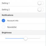 Ionic Settings Page